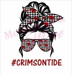 Crimson Tide Football, Alabama Football, Alabama Crimson Tide, College Football, Alabama Wallpaper, Cricut Tutorials, Cricut Ideas, Roll Tide, Messy Bun