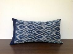 Retro Ethnic Textile Indigo Ikat Hand Woven  by orientaltribe11, $65.00