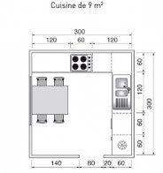 Plan de cuisine en L, fermée avec coin repas - Marie Claire Maison