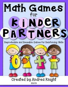 Math Games for Kinder Partners {Reproducible and Reusable Games for Practicing Math Skills} 20 games, 36 pages, $ #mathgames #kindergartenmath