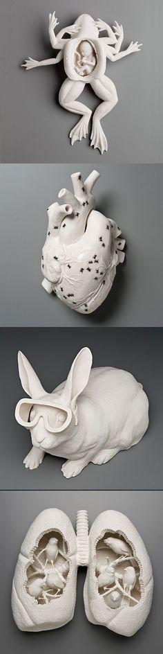Interesting art by Kate Macdowell. #white