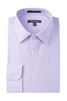 Check Trim Fit Dress Shirt