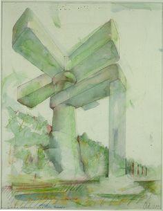 Claes Oldenburg Claes Oldenburg, Watercolor Water, Watercolor Paintings, Watercolors, Sumi Ink, Museum Exhibition, Gustav Klimt, Soft Sculpture, Art And Architecture
