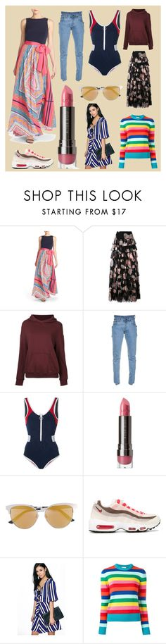 """""""A woman with good castume is never ugly..."""" by cate-jennifer ❤ liked on Polyvore featuring Eliza J, Redemption, CITYSHOP, Vetements, Duskii, LORAC, Gucci, NIKE, Boohoo and Yves Saint Laurent"""