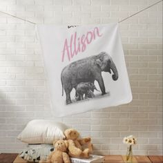 """Personalized Baby Girl Blanket """"Little Allison"""" - baby shower ideas party babies newborn gifts"""