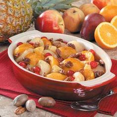 Holiday Fruit Bake!  I've made this several times and it's a winner every time!