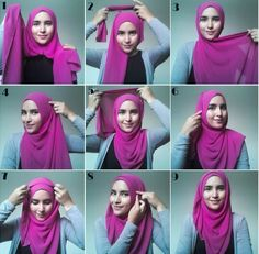 Hijab Tutorial ♥ Muslimah fashion & hijab style