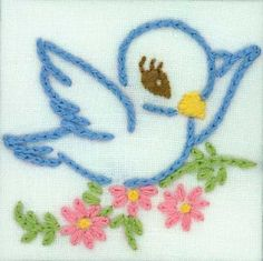 doe-c-doe: thursday = embroideryOur dishtowels always had embroidery - my mom was really good at stitching.I love it too as I learned it in Home Ec. Remember liquid embroidery too?Dishtowels with embroidery - my grandmothers taught me how. Hand Embroidery Design Patterns, Hand Embroidery Videos, Hand Embroidery Flowers, Baby Embroidery, Embroidery Works, Flower Embroidery Designs, Simple Embroidery, Vintage Embroidery, Cross Stitch Embroidery
