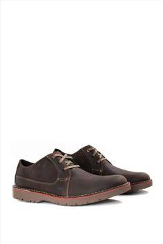 Ανδρικά Δερμάτινα Δετά Παπούτσια CLARKS VARGO PLAIN DARK BROWN LEATHER Dark Brown Leather, Clarks, Casual Shoes, Boots, Fashion, Crotch Boots, Moda, Fashion Styles, Shoe Boot