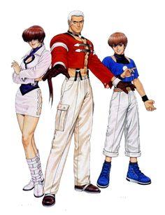 97... Orochi Team: Yashiro Nanakase, Shermie & Chris.