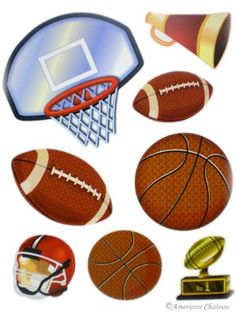 Kids Room Sports Football Basketball Wall Mural Sticker 1e58858a976