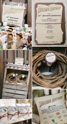 Does your little #boy love #Indiana #Jones?  Then you'll love this #Birthday #Party #theme.  ©Rustic White Photography featured on Pizzazzerie