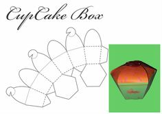 DeviantArt: More Like pocky box template by makusa-san Cupcake Boxes, Box Cake, Cupcake Template, Packaging Design, Free Printables, Deviantart, Templates, Logos, Gifts