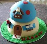 Smurfs cake - house