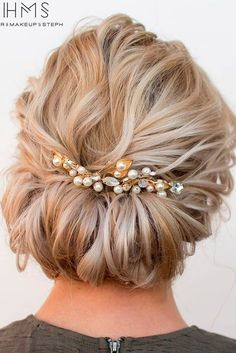 Gorgeous Prom Hairstyles for Short Hair ★ See more: http://glaminati.com/gorgeous-prom-hairstyles-for-short-hair-love/