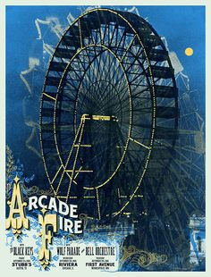 Jealous my friend has this limited edition Arcade Fire poster.