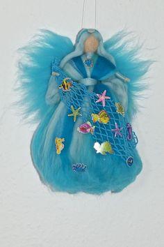 MEERES - FEE ELFE Element Wasser Jahreszeitentisch Märchenwolle Waldorfart