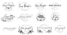 FREE PEOPLE WHOLESALE BRANDING - Kellyn Walker // Graphic Designer