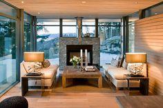 Diseño de Interiores & Arquitectura: Cabaña Contemporánea Caliente en la Tierra Fría de Noruega