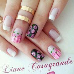 Brillo, blanco, rosado y negro