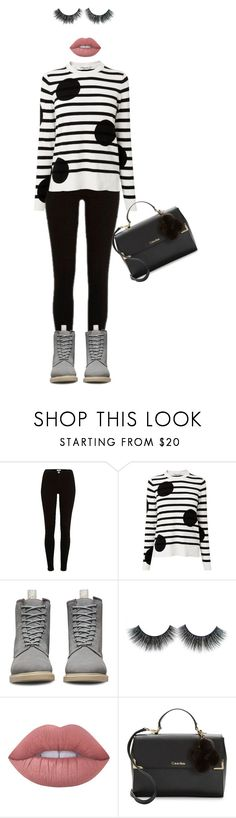 """""""My style today ❤️"""" by hanin-elsamad ❤ liked on Polyvore featuring River Island, L.K.Bennett, Dr. Martens, Lime Crime and Calvin Klein"""
