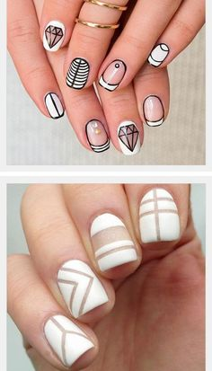 Stunning Striped Nails Art Ideas for Prom ❀ - Page 16 of 74 - Diaror Diary Striped Nail Designs, Elegant Nail Designs, Acrylic Nail Designs, Nail Art Designs, Nails Design, Matte Nails, My Nails, Acrylic Nails, Coffin Nails