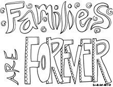 Families Are Forever Coloring Sheet From Doodle Art Alley Hundreds Of Free Sheets
