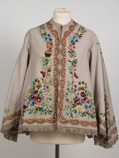 ca.1865 jacket of silk and wool (probably silk embroidery on wool fabric). Killerton Fashion Collection © National Trust / Sophia Farley and Renée Harvey.