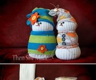 DIY Sock Snowmen Craft