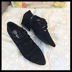Jeffrey Campbell Shoes - NWT Jeffrey Campbell Black Suede Cut-Out Shoes - 6