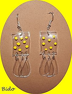 Plastic earrings