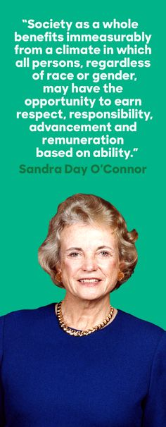 On September 25, 1981, Sandra Day O'Connor became the first female justice sworn in to the Supreme Court. As a young law school graduate, Justice O'Connor was declined an interview at 40 different firms—but she never gave up. Her commitment to democracy and passion for the law is an inspiration to all Americans.