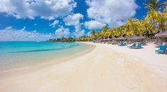 La plage de L'hôtel Royal Palm à l'île Maurice