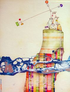 "Salome Hidalgo, ""Mundoaparte XVIa"", technika mieszana/ mixed media, year: 2012"