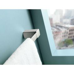 MOEN 90 Degree 24 in. Towel Bar in Brushed Nickel-YB8824BN at The Home Depot