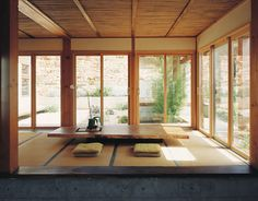A typical Japanese-style house usually features a calming atmosphere which is related to Zen philosophy. The minimalist Japanese house is … Japanese Dining Table, Japanese Living Room Decor, Japanese Home Decor, Asian Home Decor, Low Dining Table, Japanese Style House, Traditional Japanese House, Japanese Interior Design, Japanese Modern