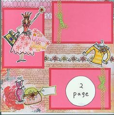 SHOPPING QUEEN - 2 PAGE premade scrapbook layout by SASSY paper piecing fashion | eBay