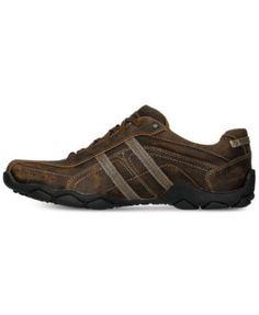 Skechers Men's Diameter - Murilo Extra Wide Casual Sneakers from Finish Line - Brown 10.5
