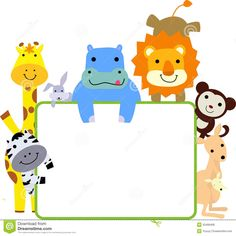 Illustration about Group of animals and frame-cartoon. Illustration of character, rabbit, illustration - 35468468 Photo Grouping, Name Cards, Zoo Animals, Cute Illustration, Pikachu, Royalty Free Stock Photos, Baby Shower, Cartoon, Creative