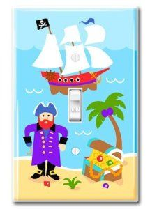 "Limited Edition Where's the Treasure Light Switchplate Cover #1 Best Seller by Kitty4U. $29.99. fits a standard size switch plate cover. measures 3 1/8"" x 4 7/8"". 2 white screws included. The Limited Edition Where's the Treasure Light Switchplate Cover is a #1 Best Seller in Amazon. Little children will love seeing our cute and colorful captain deep under the sea with the lost treasure. Certainly a Best seller.  Instructions for use:   *Before installing, turn off power at th..."