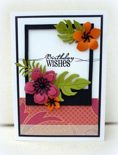 Hand stamped birthday card by Amy White using the Big Wish stamp set from Verve. #vervestamps