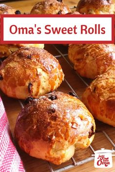 Yummy sweet raisin rolls, so perfect for a holiday breakfast or brunch. Check out the recipe at http://www.quick-german-recipes.com/sweet-roll-recipe.html  it! Make it! Enjoy it! Share it with us & tag #justlikeoma  ~ Oma Gerhild ❤️