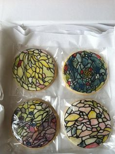 Gorgeous stained glass cookies from Maggie Austin Cake.