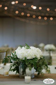 Maumee Bay reception, Bartz Viviano centerpieces - Photos by Luckybird Photography