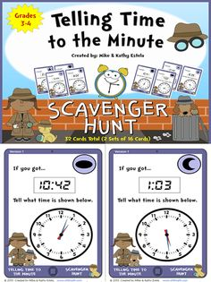 Get your students engaged and moving around while learning how to tell time to the minute appropriately.