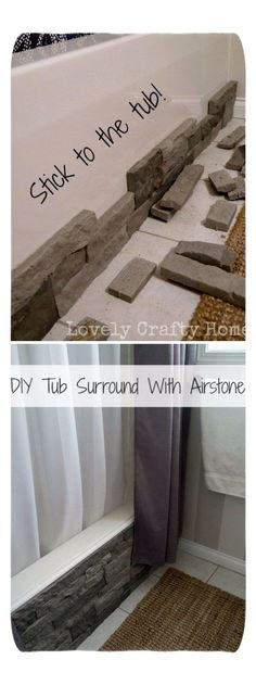 Update Your Boring Builder Bathtub With Airstone. Update Your Boring Builder Bathtub With Airstone. Source by The post Update Your Boring Builder Bathtub With Airstone. appeared first on Mack Makeovers. Diy Home Decor For Apartments, Diy Bathroom Remodel, Bathroom Remodeling, Remodeling Ideas, Bathtub Remodel, House Remodeling, Bathroom Renos, Inexpensive Bathroom Remodel, Kitchen Remodel