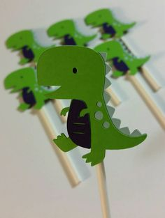 Check out this item in my Etsy shop https://www.etsy.com/listing/250233558/12-dinosaur-cupcake-toppers
