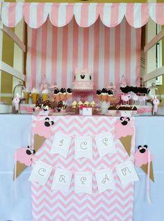 Los helados de Minnie Mouse. Atrévete con las rayas!