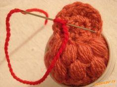 Malé kuřátko: 4.řet. oka spojit jedním pevným okem do kroužku, do tohoto kroužku uháčkovat 12 kr. sl...