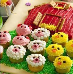 Barn yard cupcakes